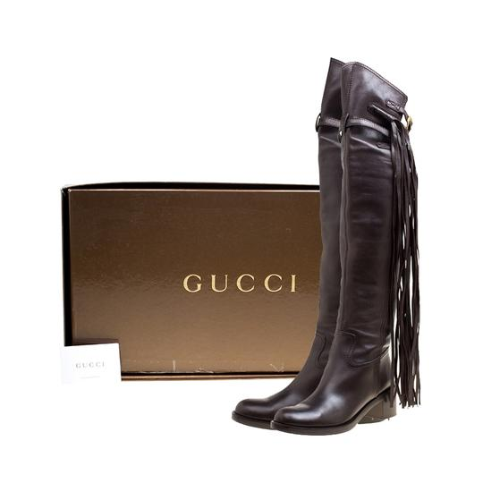 Gucci Leather Brown Boots