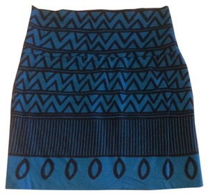 American Apparel Skirt Blue And Black