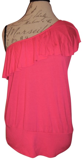 Preload https://img-static.tradesy.com/item/24588495/wet-seal-hot-pink-one-shoulder-ruffled-stretchy-blouse-size-12-l-0-1-650-650.jpg