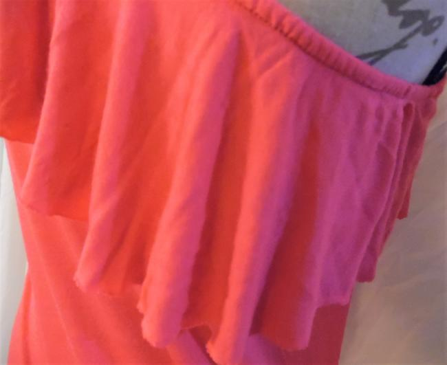Wet Seal One Shoulder Ruffle Stretch Top Hot Pink Image 3