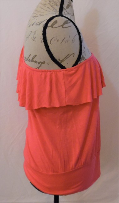 Wet Seal One Shoulder Ruffle Stretch Top Hot Pink Image 8