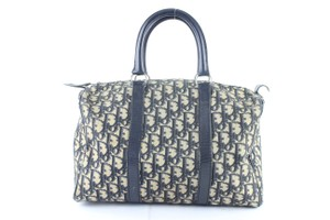 Dior Speedy Oblique Signature Trotter Duffle Satchel in Blue