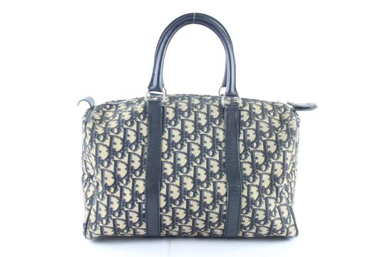 Dior Speedy Oblique Signature Trotter Duffle Satchel in Blue Image 5