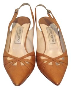 Jimmy Choo Slingbacks Tan Pumps