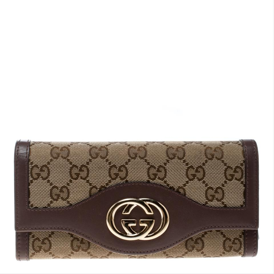 9c3c727a274 Gucci Beige GG Canvas and Leather Sukey Continental Wallet Image 0 ...