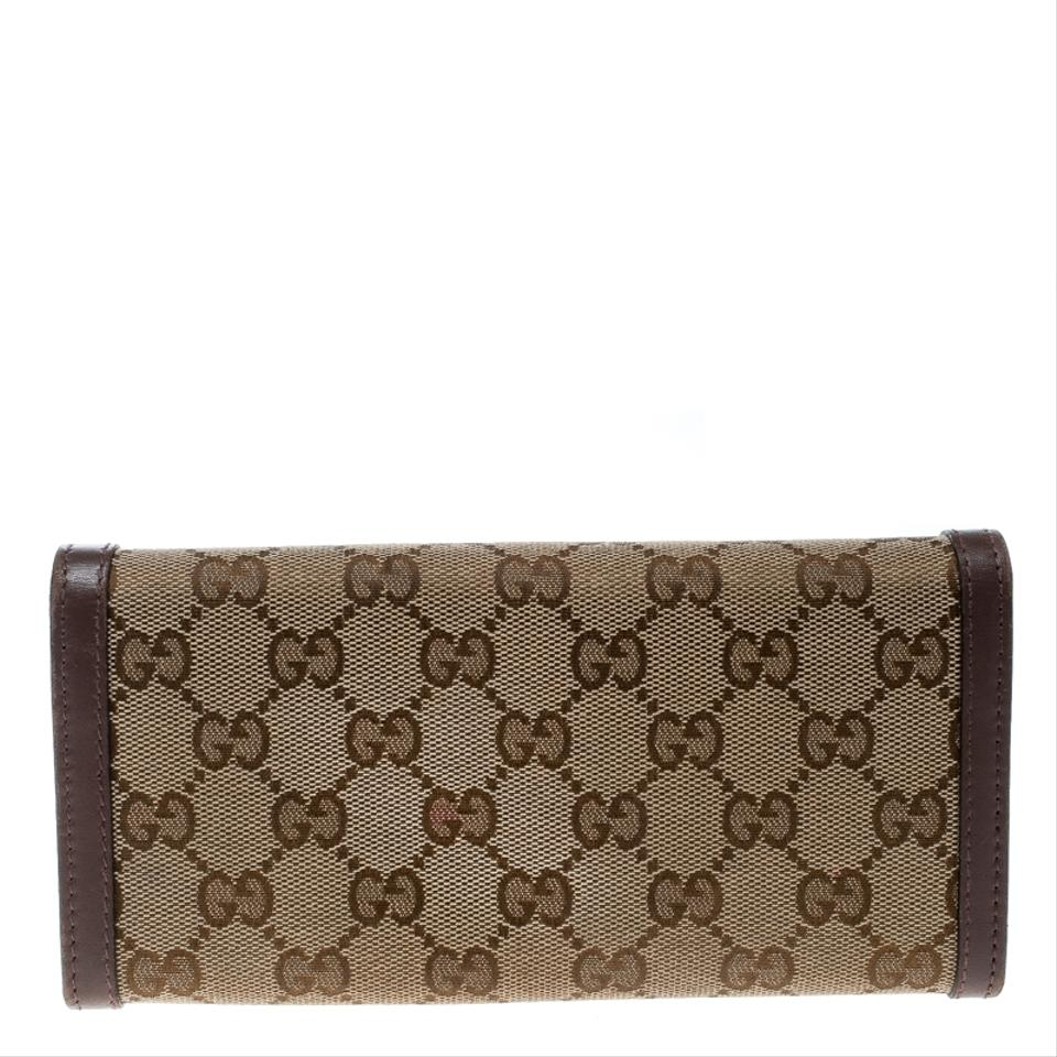 e5f985fb2bb Gucci Beige Sukey Gg Canvas and Leather Continental Wallet - Tradesy