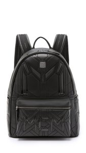 MCM Iconic Embossed Galaxy Alien Quilted Backpack