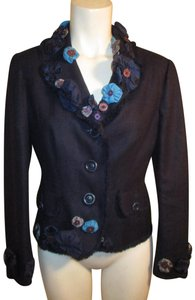 Moschino Silk Flower Jacket 005 navy multi Blazer