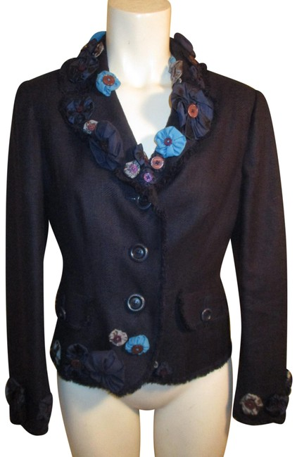 Preload https://img-static.tradesy.com/item/24588732/moschino-navy-multi-cheapandchic-silk-flower-detail-blazer-size-10-m-0-1-650-650.jpg