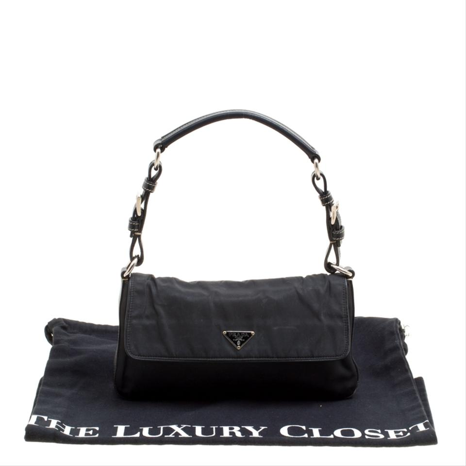 220b2093e031 Prada And Leather Black Nylon Shoulder Bag - Tradesy