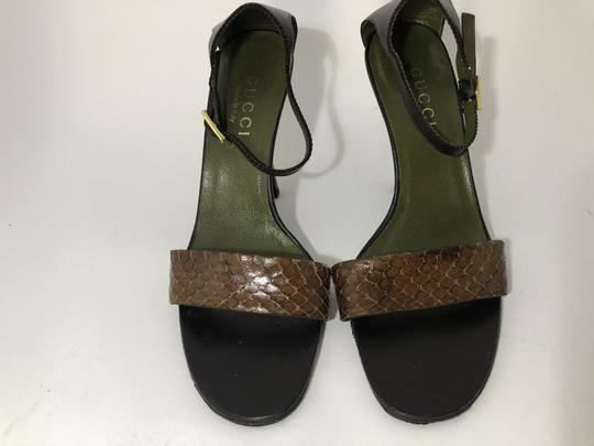 Gucci Snakeskin Vintage Classic Leather Sandals Image 3