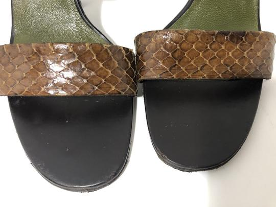 Gucci Snakeskin Vintage Classic Leather Sandals Image 6
