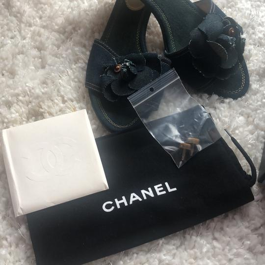 Chanel navy Mules Image 6