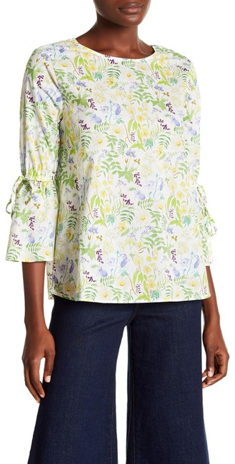 Preload https://img-static.tradesy.com/item/24588891/green-combo-republic-clothing-34-bell-sleeves-crew-neck-floral-blouse-size-4-s-0-1-650-650.jpg