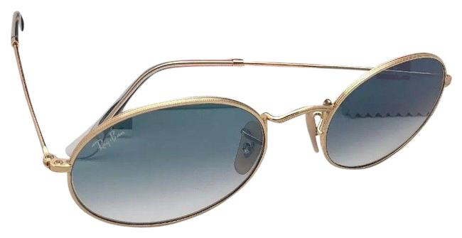 Ray-Ban Blue New 3547-n 001/3f 54-21 145 Gold Frame Sunglasses Ray-Ban Blue New 3547-n 001/3f 54-21 145 Gold Frame Sunglasses Image 1