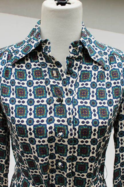 Casi Dvf Vintage Shirtdress Paisley Dress Image 6