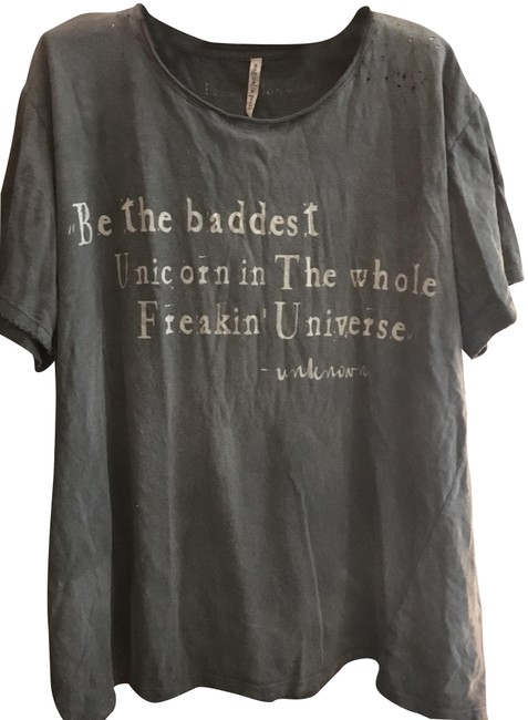 Item - Grey Jersey Cotton Tee Shirt Size OS (one size)