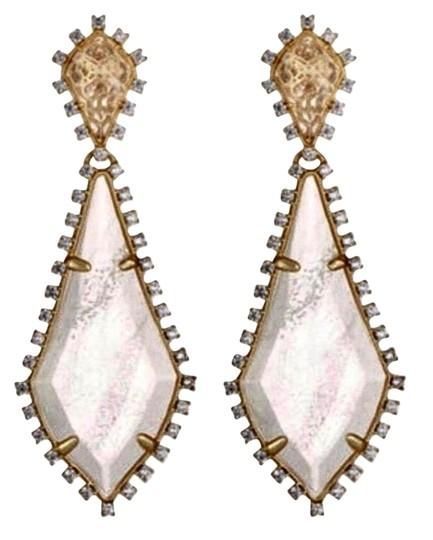 Preload https://img-static.tradesy.com/item/24589085/kendra-scott-gold-clear-white-august-drop-earrings-0-1-540-540.jpg