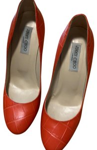 Jimmy Choo orange Platforms