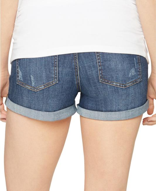 LED Maternity Luxe Essentials Cuffed Denim Maternity Short Image 1