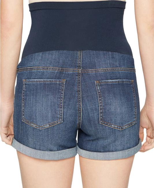 LED Maternity Luxe Essentials Cuffed Denim Maternity Short Image 2