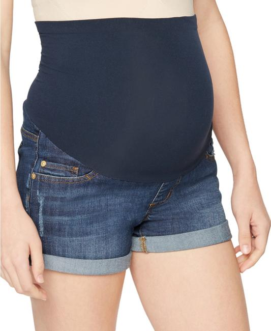 LED Maternity Luxe Essentials Cuffed Denim Maternity Short Image 3