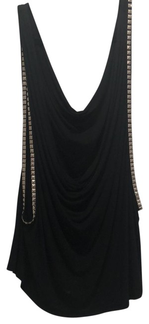 Item - Studded Can Also Be Worn As A Halter Black Top