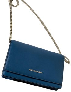 Givenchy Cross Body Bag. Givenchy Pandora Flap Chain Wallet Blue Goat Skin  Leather ... f9de4ade64ed1