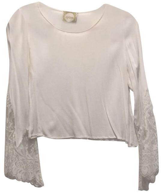 Item - White Lace Bell Sleeve Blouse Size 8 (M)