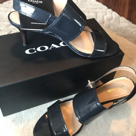 Coach Midnight Navy Pumps Image 4