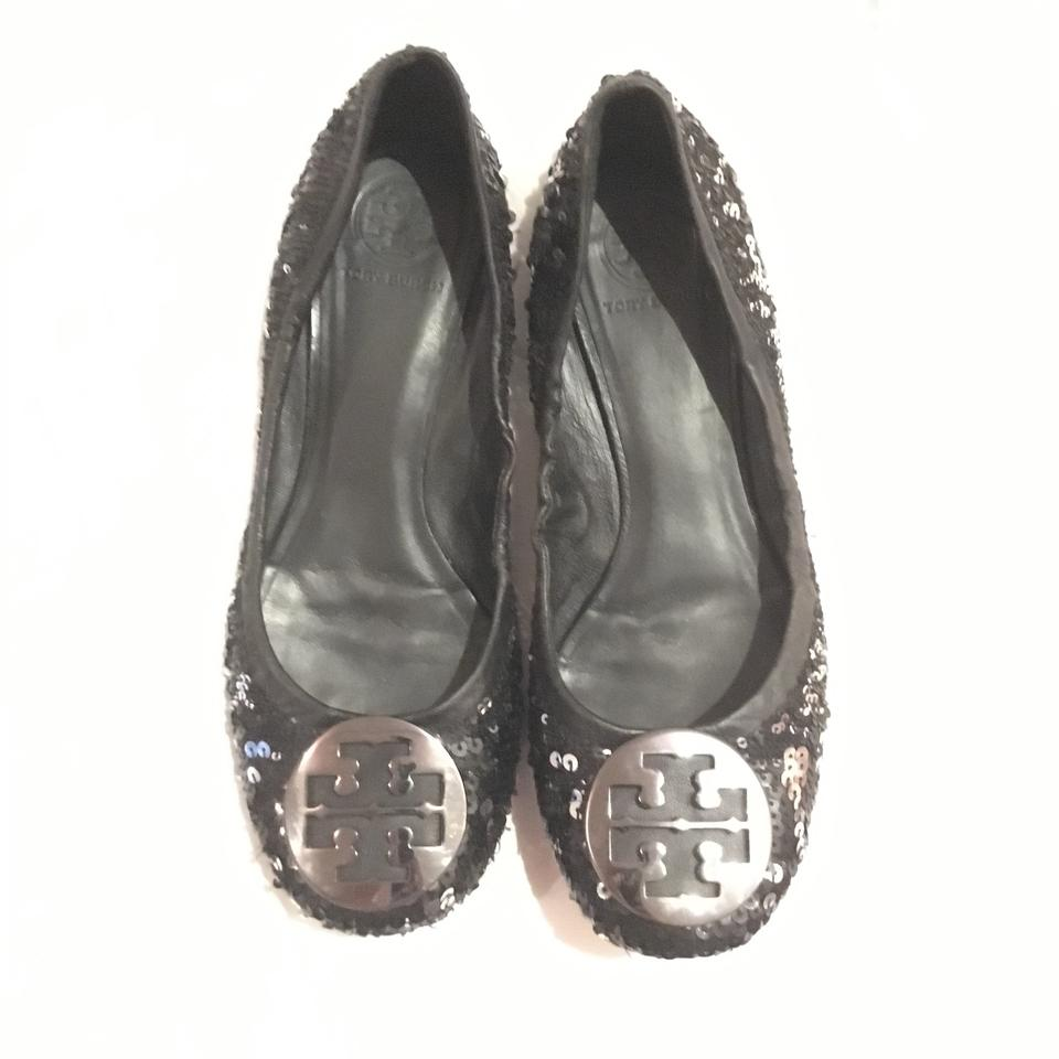 5b90524d6fc Tory Burch Black Sequin Reva Flats Size US 9.5 Regular (M