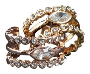 Luv AJ Marquee Diamond Disc Statement Ring
