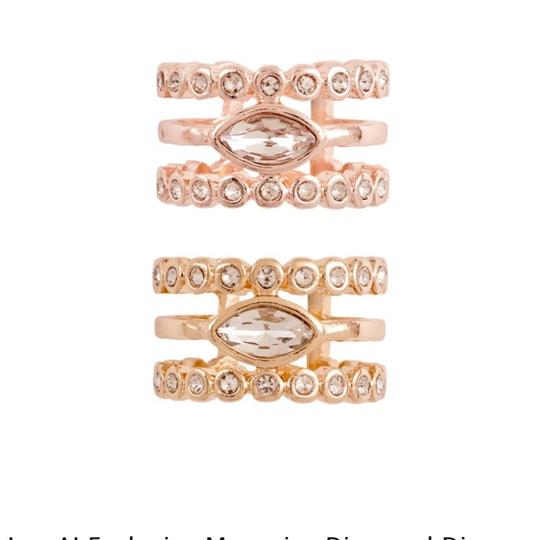 Luv AJ Marquee Diamond Disc Statement Ring Image 1