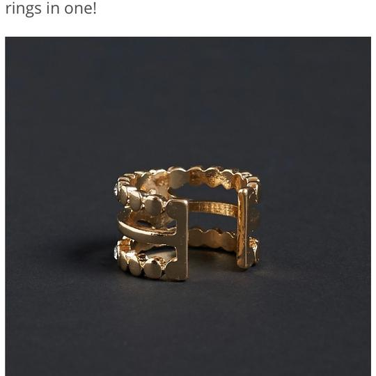 Luv AJ Marquee Diamond Disc Statement Ring Image 4