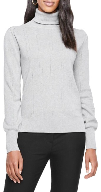 Preload https://img-static.tradesy.com/item/24589333/ann-taylor-pointelle-turtleneck-silver-frost-heather-sweater-0-1-650-650.jpg
