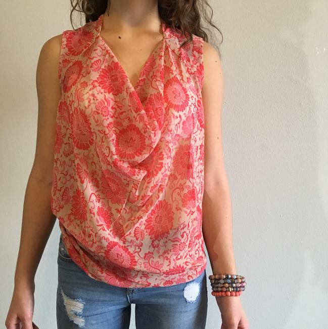 CAbi Top pink, nude, red Image 1