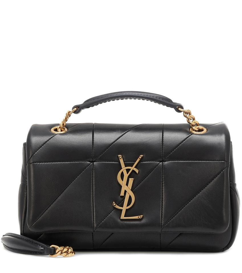 Saint Laurent Jamie Quilted Monogram Small Black Leather Cross Body ... 0e52b9ba36279