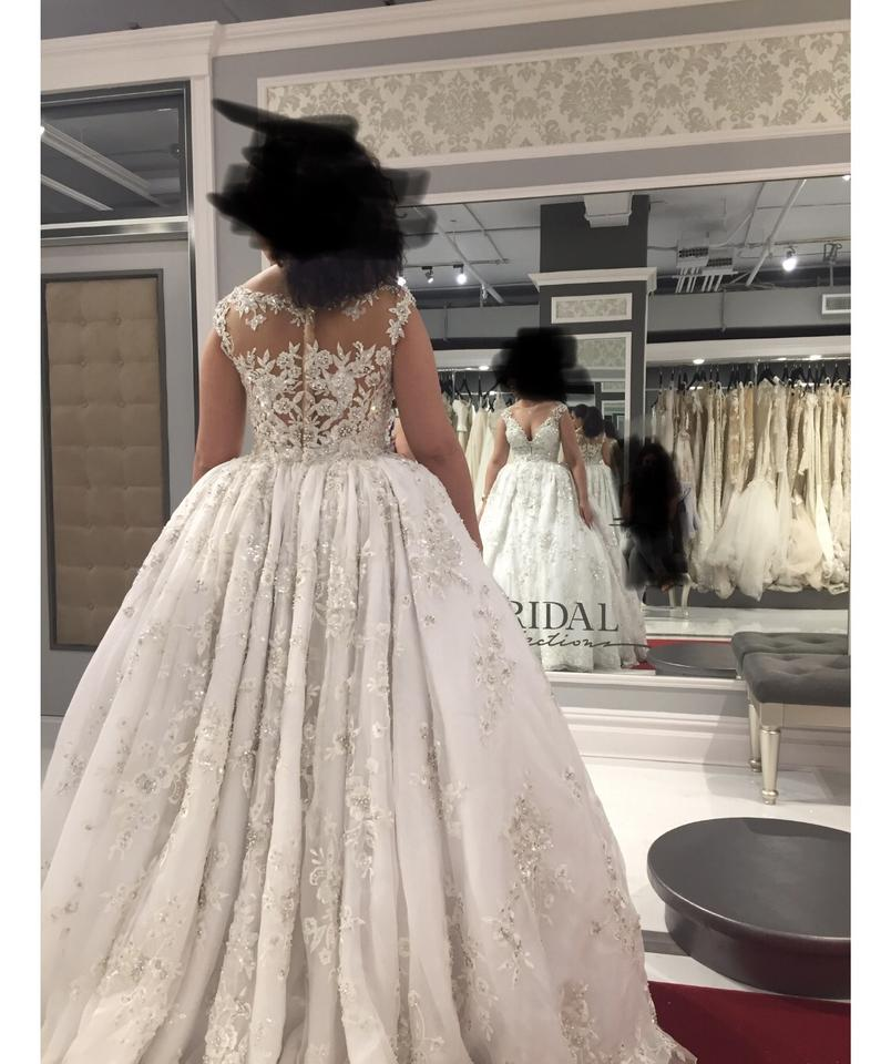 Non Traditional Wedding Dresses For Winter: Ysa Makino Winter White 68985 Formal Wedding Dress Size 12