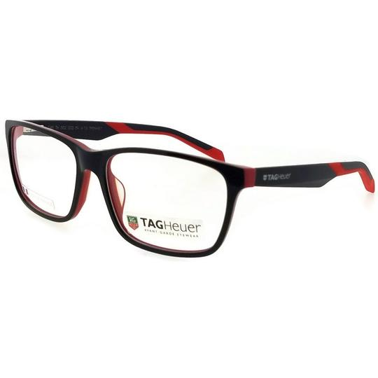 TAG Heuer B-Urban-0552-002-59 Rectangle Unisex Black Frame Clear Lens Eyeglasses Image 1