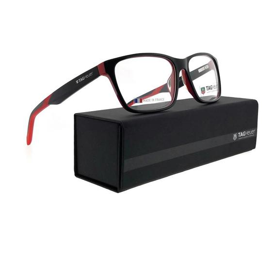TAG Heuer B-Urban-0552-002-59 Rectangle Unisex Black Frame Clear Lens Eyeglasses Image 5