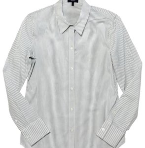 Theory Button Down Shirt grey white
