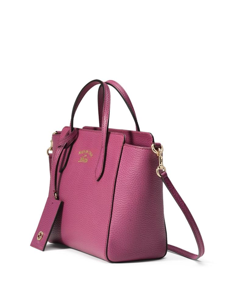 2413ac133285 Gucci Tote Swing Mini Pink Leather Cross Body Bag - Tradesy