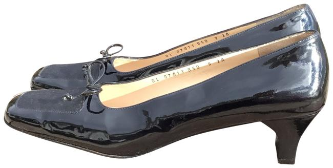 Salvatore Ferragamo Black Patent Leather Pumps Size US 9 Narrow (Aa, N) Salvatore Ferragamo Black Patent Leather Pumps Size US 9 Narrow (Aa, N) Image 1