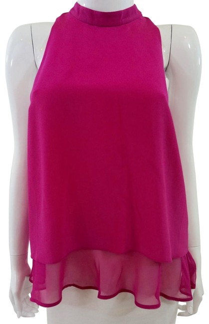 Preload https://img-static.tradesy.com/item/24589679/elizabeth-and-james-pink-blouse-size-8-m-0-1-650-650.jpg