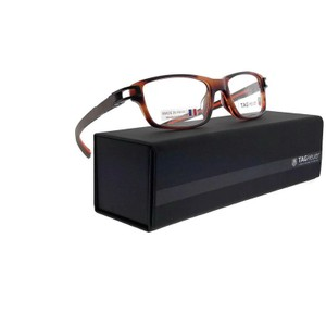 TAG Heuer TH7602-002-52 Rectangle Unisex Brown Frame Clear Lens Eyeglasses NWT