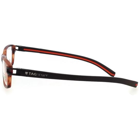 TAG Heuer TH7602-002-52 Rectangle Unisex Brown Frame Clear Lens Eyeglasses NWT Image 3