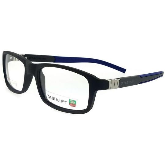 TAG Heuer TH9312-005-56 Rectangle Unisex Grey Frame Clear Lens Eyeglasses NWT Image 1