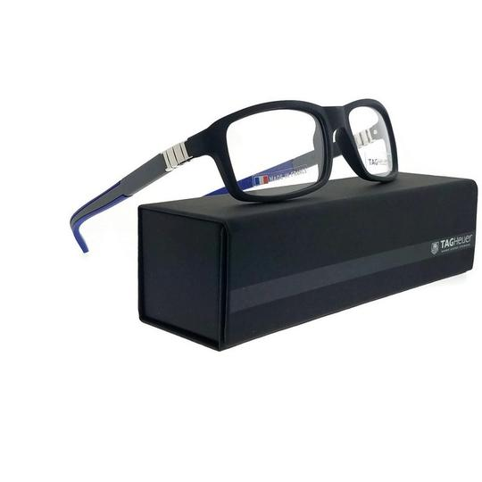 TAG Heuer TH9312-005-56 Rectangle Unisex Grey Frame Clear Lens Eyeglasses NWT Image 5