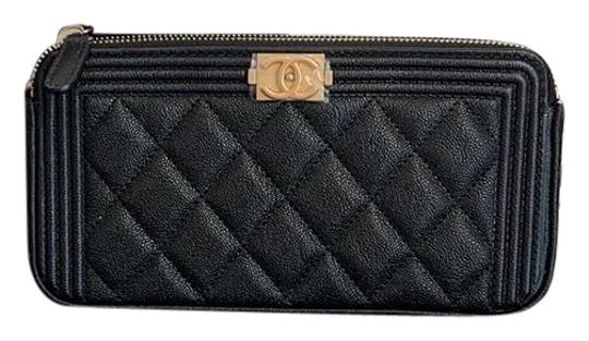 c0e4647bee49 Chanel Boy Wallet on Chain Black Caviar Leather Cross Body Bag - Tradesy