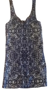 Free People Top Dark Blue And White